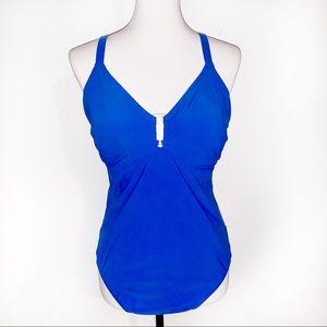 [Lands End] Royal Blue 1PC Swim/Bathing Suit - 18W